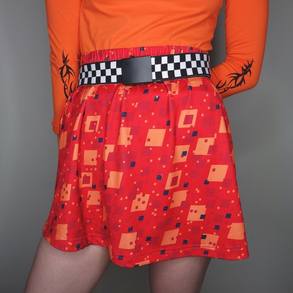 29f5fafb21 Dresses   Skirts - Abstract vintage color block skirt